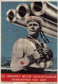 Vintage Russian poster - Long live the USSR Navy